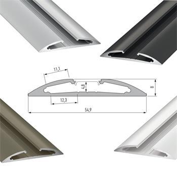 LED Profil RETO 1m (Halbrund 55x8mm)