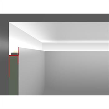 LED Drywall profile ADP without wing (Length: 2m) ; Plasterboard