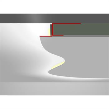 LED Drywall profile ADP flex without wing (Length: 2m) ; Plasterboard