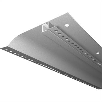 LED Drywall profile R10-F with reflector-wing (Length: 2m) ; Plasterboard