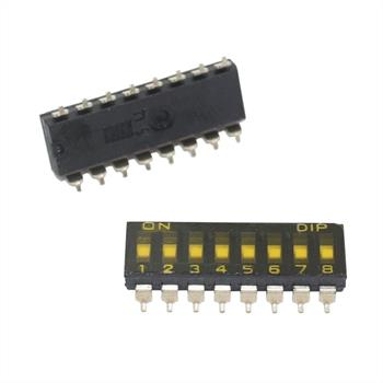 DIP Switch SMD Slide Switch 8-pole ; Knitter-Switch SBS1008