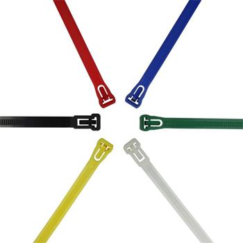 100x Cable tie Releasable 250 x 7,6mm ; Reusable
