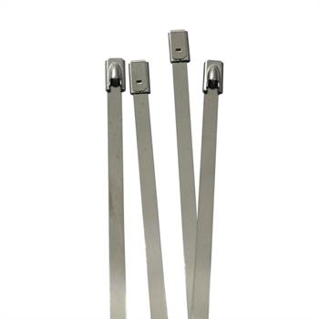 Stainlees steel Cable tie 125 x 4,6mm ; metal up to 500°C 46kg strength