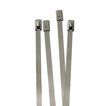 Edelstahl Kabelbinder 200 x 4,6mm ; Metall bis 500°C 46kg Zugfestigkeit