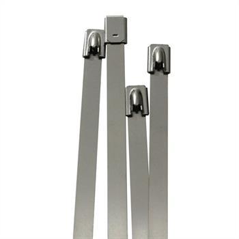 Edelstahl Kabelbinder 360 x 7,9mm ; Metall bis 500°C 114kg Zugfestigkeit