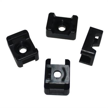 100x Schraubsockel für Kabelbinder 21x16mm Montagesockel