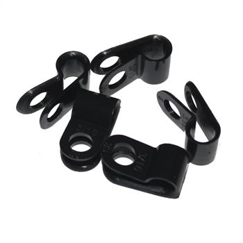 100x P-Clip for cables 5mm Nylon Cable clamp fixing Chassis terminals