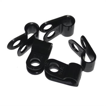 100x P-Clip for cables 6mm Nylon Cable clamp fixing Chassis terminals