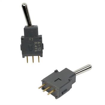 Toggle Switch Miniature 3Pins 10x5,3x26,3mm 2,5mm ; Nikkai A12AP-RO