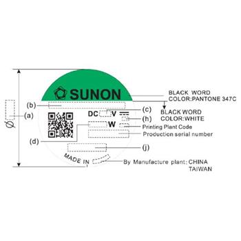 Lüfter 12V 1,44W 60x60x20mm 38,3m³/h 32,5dBA ; Sunon EE60201S11000U999