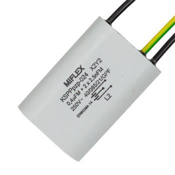 Entstörkondensator 1x 0,4µF + 2x 0,0025µF 250V