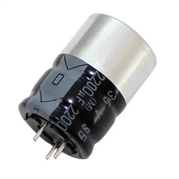 3-Pin Elko Kondensator 2200µF 35V 125°C ; RPH-35V222K6EGY4-F52 ; 2200uF