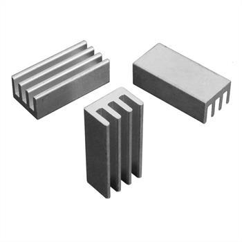 Alu Kühlkörper 24,8x11,8x8mm Silber Kühlrippe Kühlblech