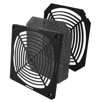 Plastic fan grille with filter insert 120x120mm 120mm