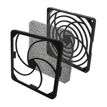Fan grille + Dust filter 92x92mm 30ppi 3-part ; changable filter