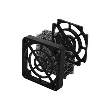 Fan grille + Dust filter 40x40mm 30ppi 3-part ; changable filter