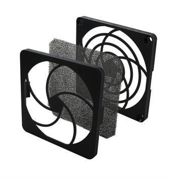 Fan grille + Dust filter 80x80mm 30ppi 3-part ; changable filter
