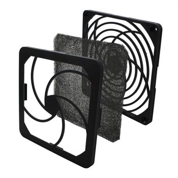 Fan grille + Dust filter 120x120mm 30ppi 3-part ; changable filter