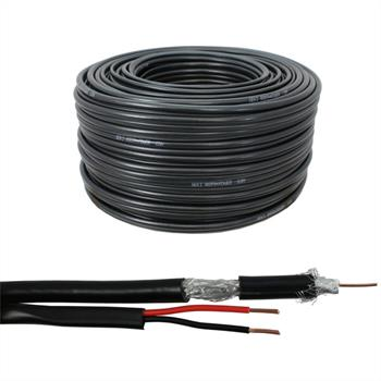 50m RG59 Koax Kabel Video + Strom Power ; Videoüberwachung Kamera 0,81mm