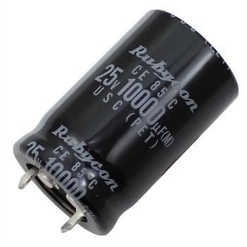 Snap-In Elko Kondensator 10000µF 25V 85°C ; 25USC10000MEFASN ; 10000uF