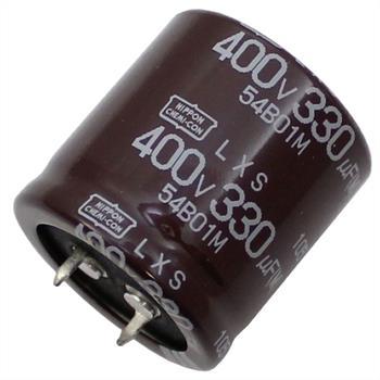 Snap-In Elko 330µF 400V 105°C 30x30mm