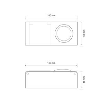 MiniBox Switch + 1x Earthed Socket Desktop power socket IP44 ; Aluminium