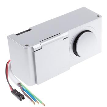 MiniBox 12V LED-Switch + 1x Earthed Socket Desktop power socket IP44 ; Aluminium