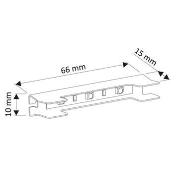 RGB Glaskantenbeleuchtung + 2m Kabel / Schrank- & Vitrinenbeleuchtung