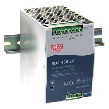 Hutschienen Netzteil 480W 24V 20A ; MeanWell SDR-480-24 ; DIN-Rail Trafo