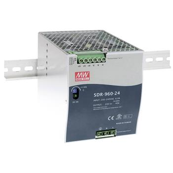 Din-Rail power supply 960W 24V 40A ; MeanWell SDR-960-24 ; Panel Mount