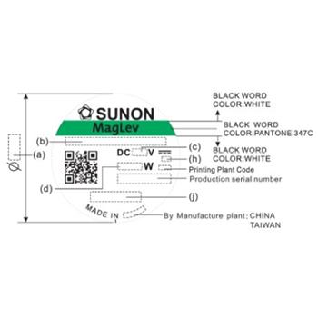 Lüfter 12V 0,27W 60x60x15mm 21,6m³/h 14,5dBA ; Sunon HA60151V41000UA99