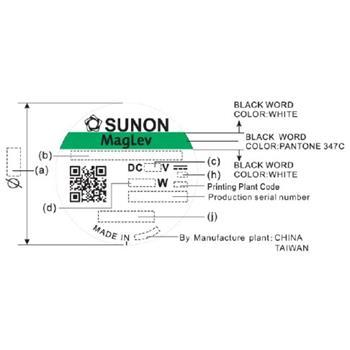 Lüfter 12V 1,56W 60x60x25mm 45,9m³/h 31,2dBA ; Sunon MF60251VX1000UA99