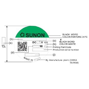 Lüfter 12V 1,47W 60x60x25mm 39,9m³/h 27dBA ; Sunon EE60251S11000U999