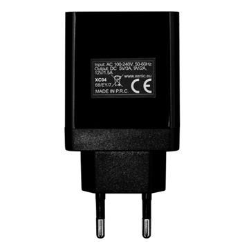 3A USB Ladegeräte Schnelladegerät schwarz Xenic XC04Black Fast Charger Handy