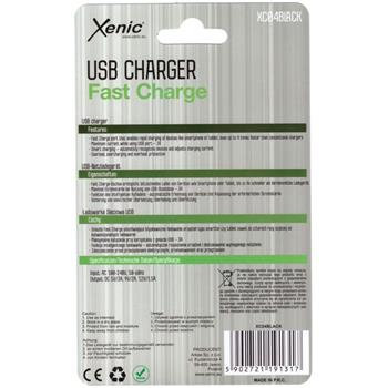 3A USB Charger Quick Charger black Xenic XC04Black Fast Charger Mobile Phone