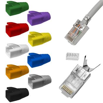 10x network connector RJ45 plug CAT5 CAT6 CAT7 LAN gold-plated cont.
