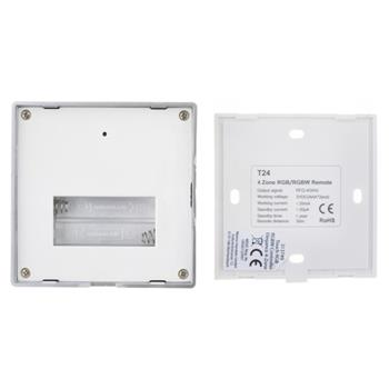 Elegancet RGB RGBW 4-Zone Wall Touch Panel Controller RF 3V battery