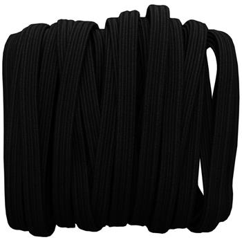 5m x 5mm elastic band black braid boil-proof 75% polyester 25% elastane