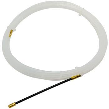 5m Kabeleinziehhilfe 3mm Fiberglas Zugdraht mit Führungsfeder Kabel Einziehband