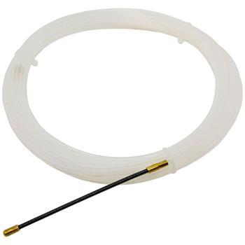 25m Kabeleinziehhilfe 3mm Fiberglas Zugdraht mit Führungsfeder Kabel Einziehband