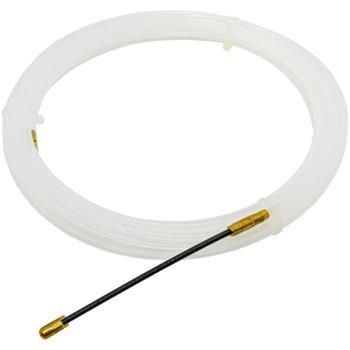 10m Kabeleinziehhilfe 4mm Fiberglas Zugdraht mit Führungsfeder Kabel Einziehband