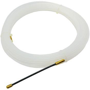 25m Kabeleinziehhilfe 4mm Fiberglas Zugdraht mit Führungsfeder Kabel Einziehband