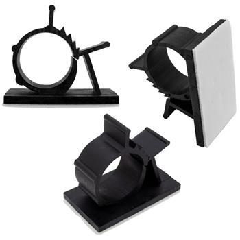 50x einstellbare Kabelschelle 7,9-10,3mm mit Klebesockel 25x19mm Kabelklemme