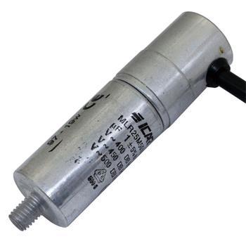 Anlaufkondensator Motorkondensator 1µF 500V 25x86mm Kabel 40cm ICAR 1uF
