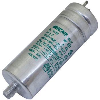 Motor-Kondensator 3,2µF 480V 30x80mm - Pins