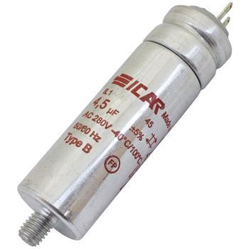 Motor-Kondensator 4,5µF 280V 25x80mm - Pins