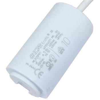 Motor-Kondensator 10µF 450V 40x70mm - Kabel
