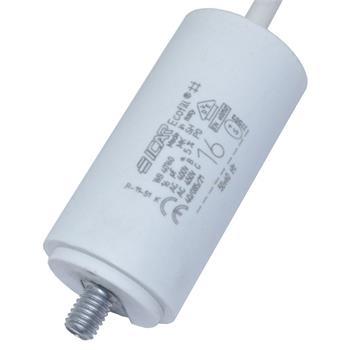 Motor-Kondensator 16µF 450V 35x71mm - Kabel