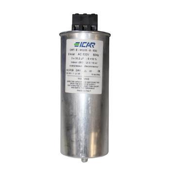 Blindstromkondensator 3 Phasen 3x 30,2µF 8kvar 530V ICAR CRT-E-85208-8-530
