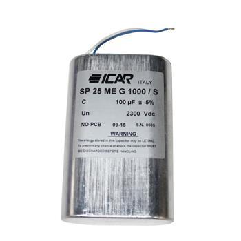 Hochspannungskondensator 100µF 2300V ICAR SP25MEG1000S